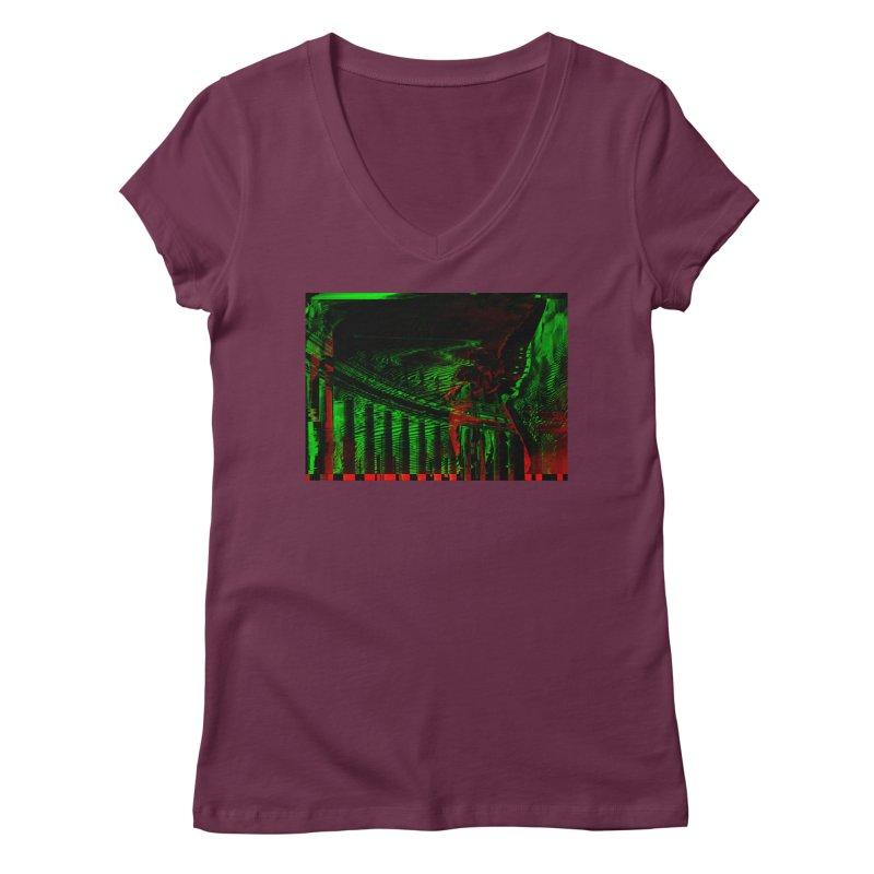 Angels and Pillars Women's V-Neck by radesigns's Artist Shop