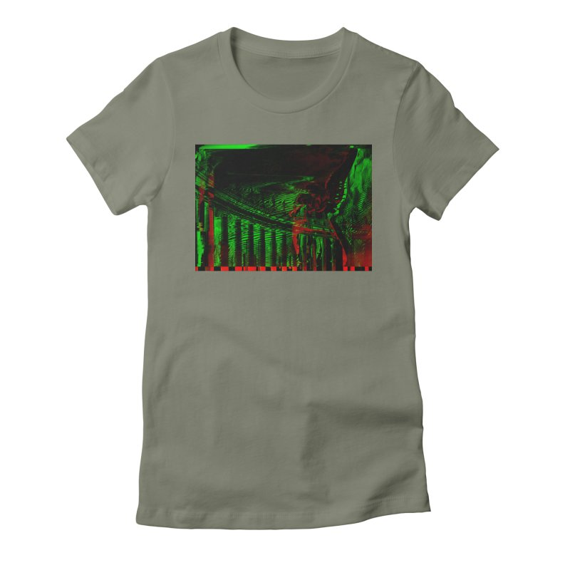 Angels and Pillars Women's Fitted T-Shirt by radesigns's Artist Shop