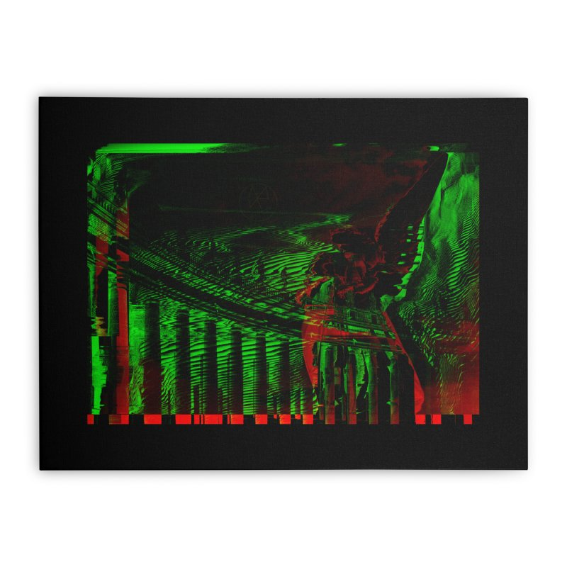 Angels and Pillars Home Stretched Canvas by radesigns's Artist Shop