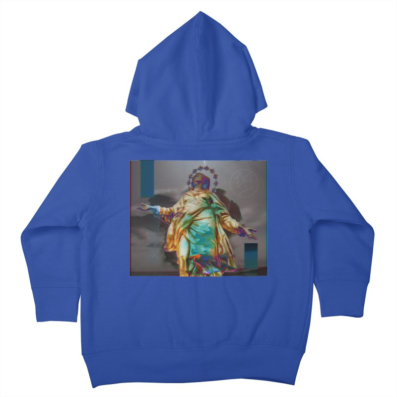 Virgen II Kids Toddler Zip-Up Hoody by radesigns's Artist Shop