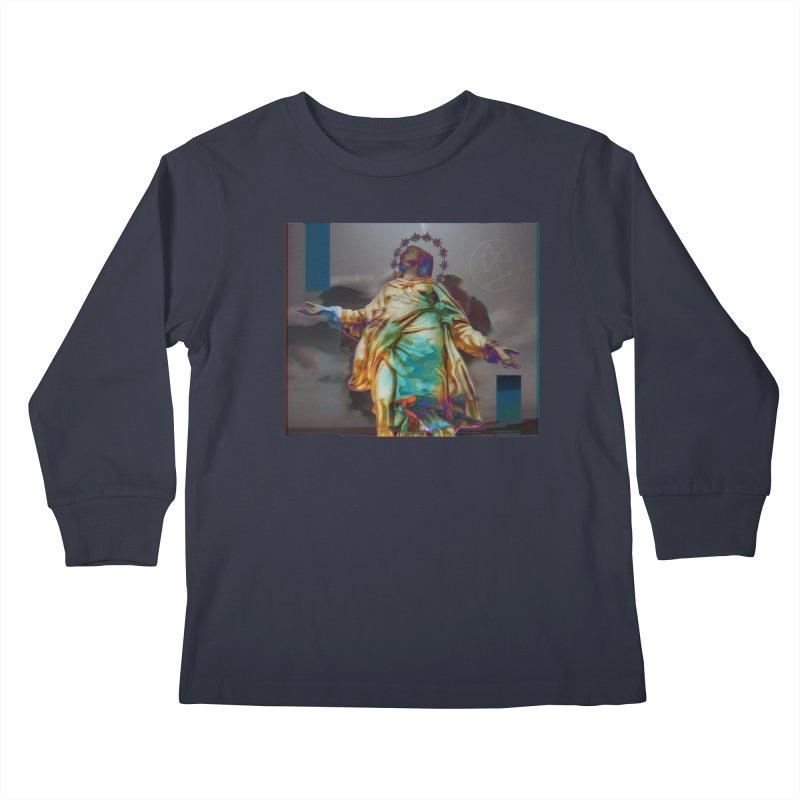 Virgen II Kids Longsleeve T-Shirt by radesigns's Artist Shop