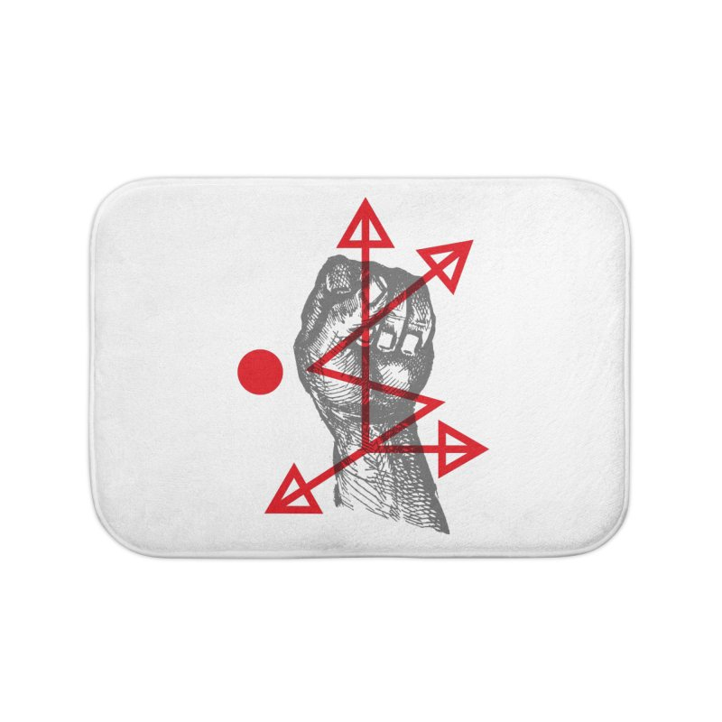 DKMU - Resistance against consensual reality Home Bath Mat by radesigns's Artist Shop