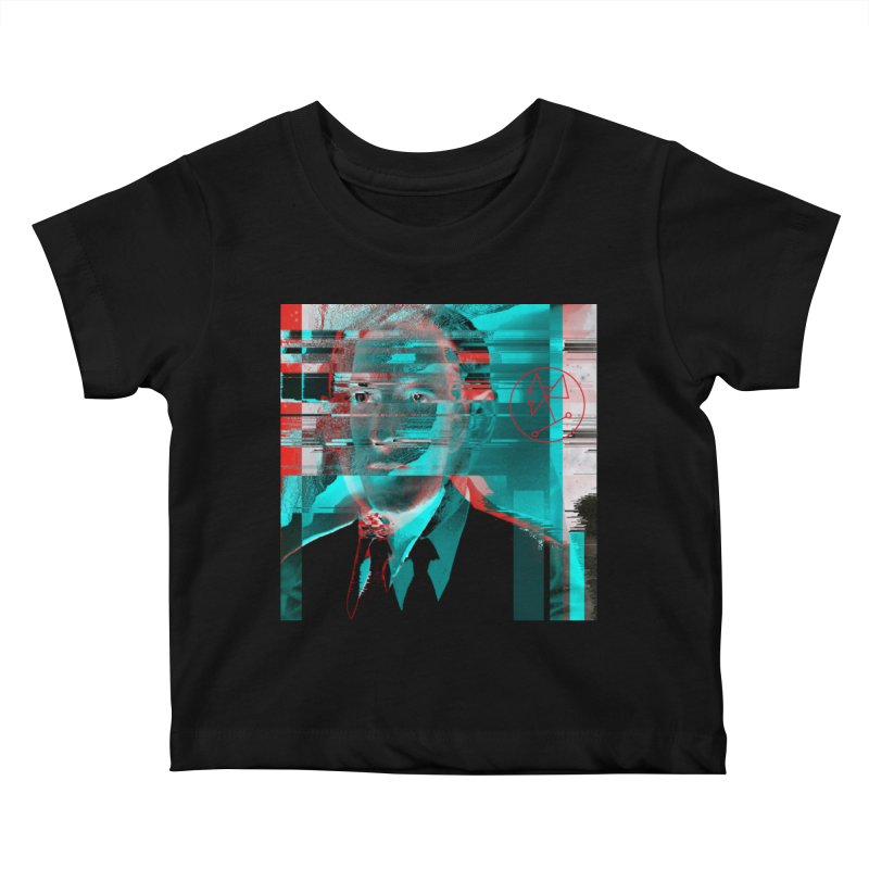 HPL Glitch Kids Baby T-Shirt by radesigns's Artist Shop