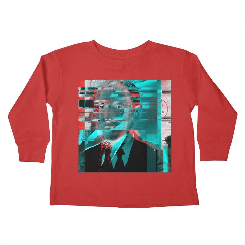HPL Glitch Kids Toddler Longsleeve T-Shirt by radesigns's Artist Shop