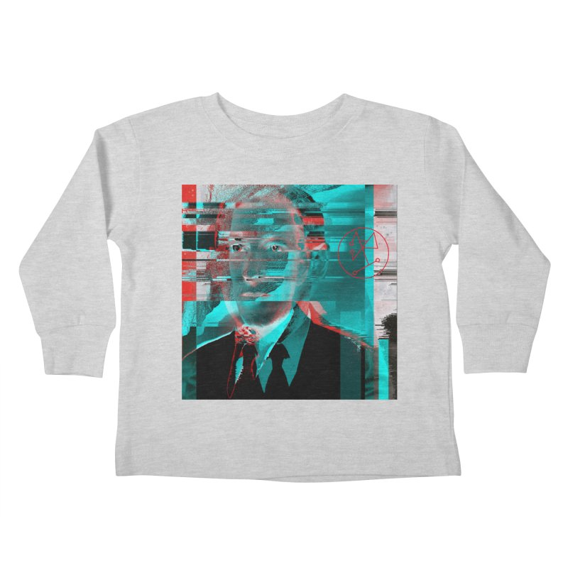HPL Glitch Kids Toddler Longsleeve T-Shirt by radesigns's Artist Shop