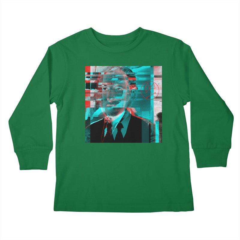 HPL Glitch Kids Longsleeve T-Shirt by radesigns's Artist Shop