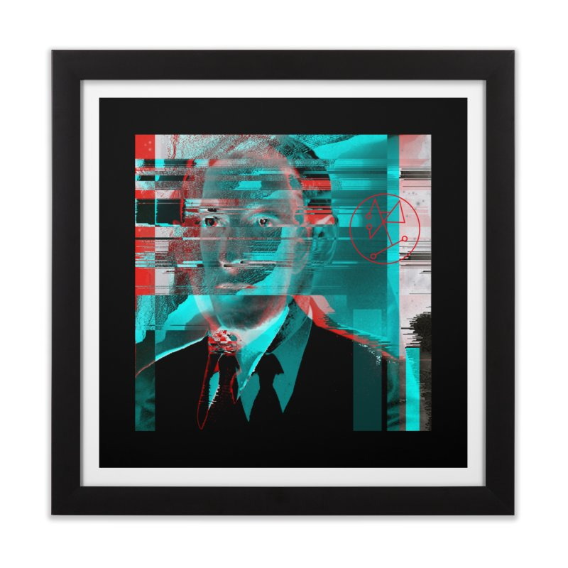 HPL Glitch Home Framed Fine Art Print by radesigns's Artist Shop