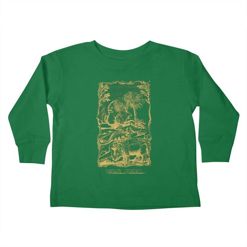 Vintage Fantastic Creatures Kids Toddler Longsleeve T-Shirt by R-A Designs -  Artist Shop