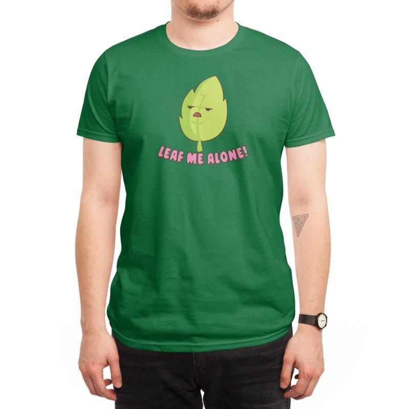 Leaf Me Alone Men's T-Shirt by Radical Lizard, Radical designs for Radical people