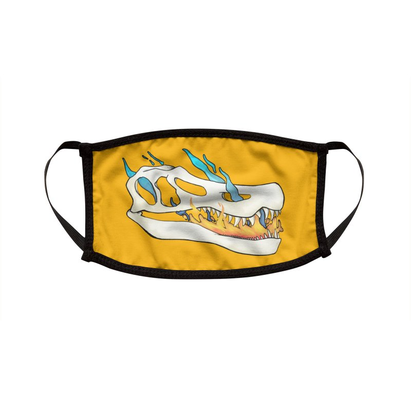Fire-breathing Baryonyx Accessories Face Mask by Radiochio's Artist Shop