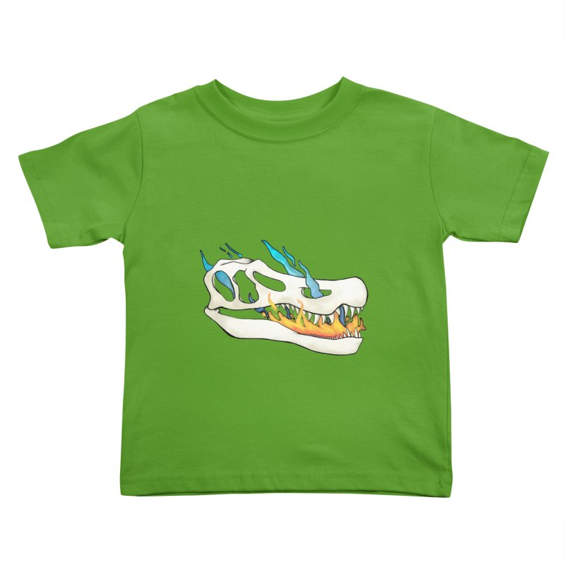 Fire-breathing Baryonyx Kids Toddler T-Shirt by Radiochio's Artist Shop