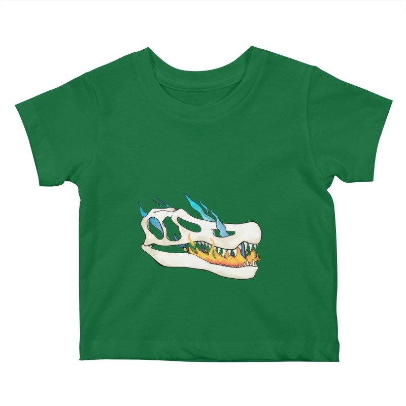 Fire-breathing Baryonyx Kids Baby T-Shirt by Radiochio's Artist Shop