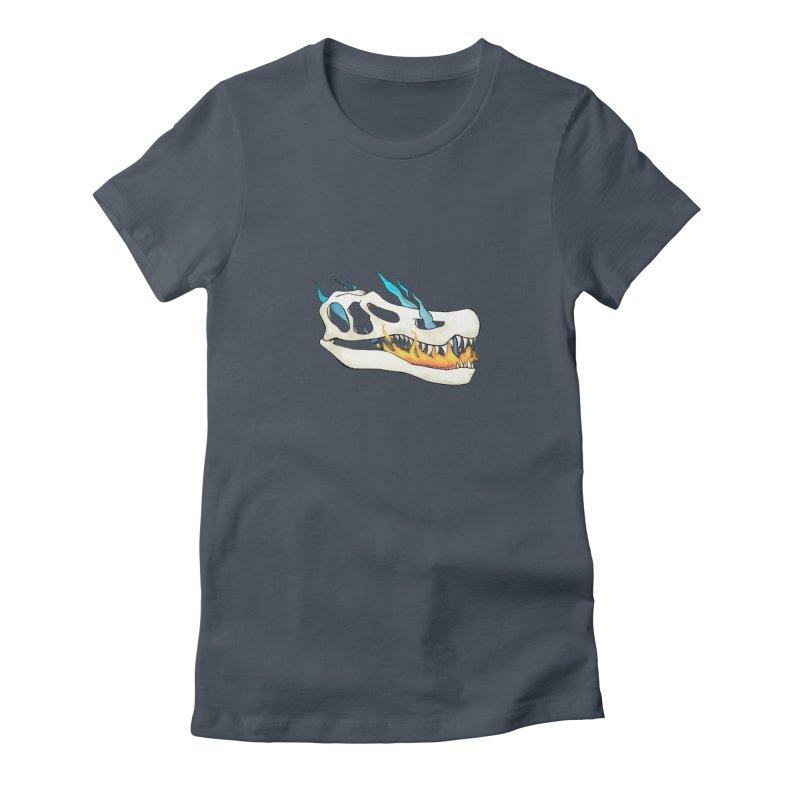 Fire-breathing Baryonyx Women's T-Shirt by Radiochio's Artist Shop