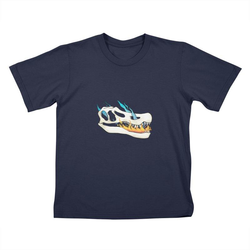Fire-breathing Baryonyx Kids T-Shirt by Radiochio's Artist Shop