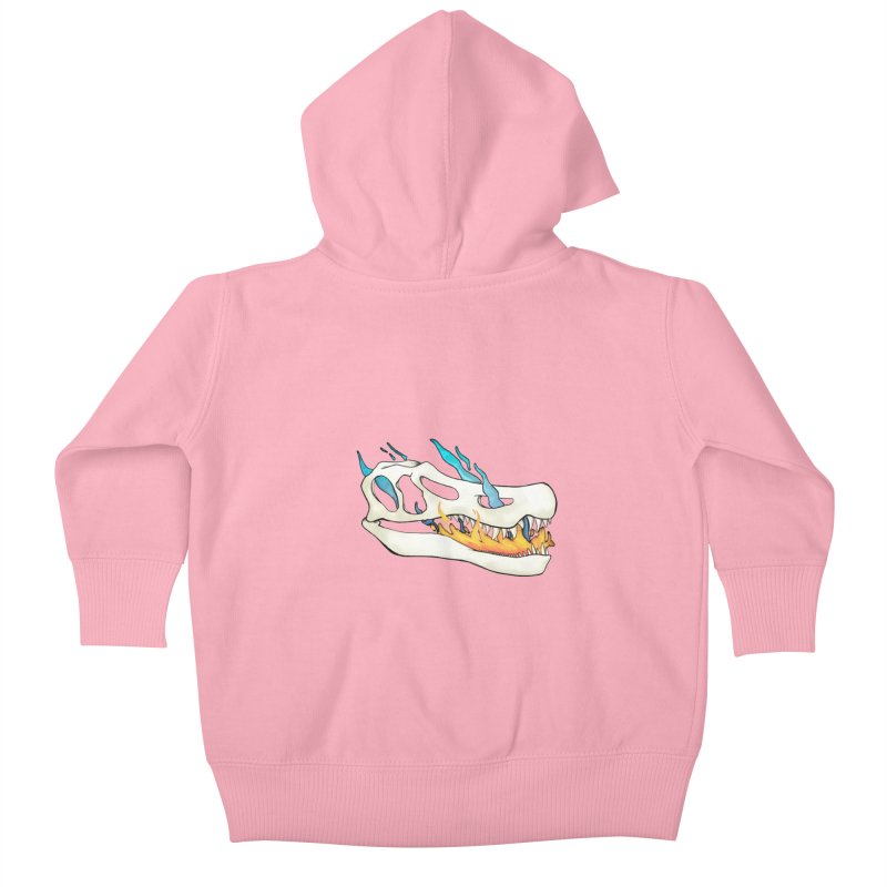 Fire-breathing Baryonyx Kids Baby Zip-Up Hoody by Radiochio's Artist Shop