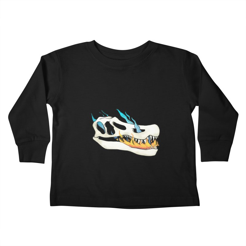 Fire-breathing Baryonyx Kids Toddler Longsleeve T-Shirt by Radiochio's Artist Shop