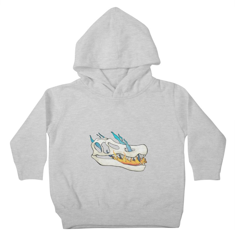 Fire-breathing Baryonyx Kids Toddler Pullover Hoody by Radiochio's Artist Shop