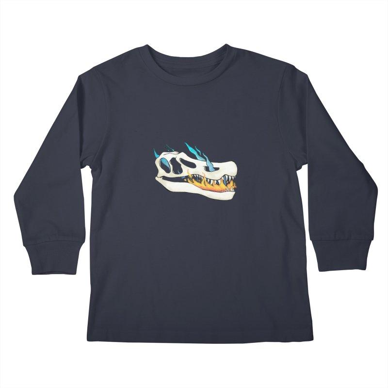 Fire-breathing Baryonyx Kids Longsleeve T-Shirt by Radiochio's Artist Shop