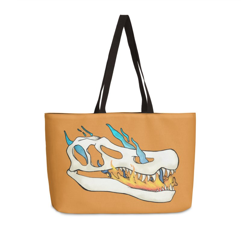 Fire-breathing Baryonyx Accessories Bag by Radiochio's Artist Shop