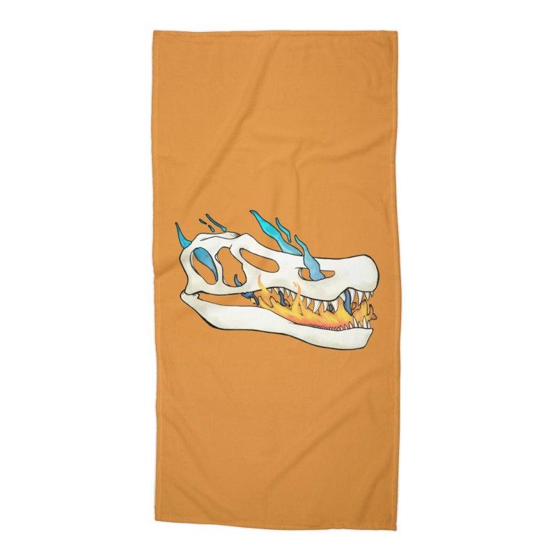 Fire-breathing Baryonyx Accessories Beach Towel by Radiochio's Artist Shop