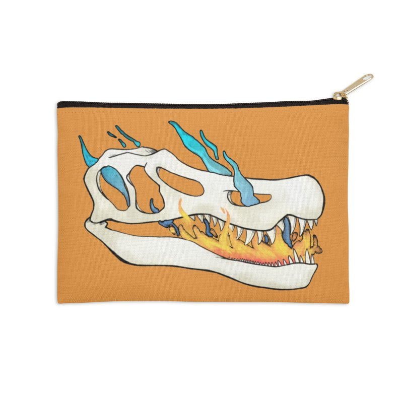 Fire-breathing Baryonyx Accessories Zip Pouch by Radiochio's Artist Shop
