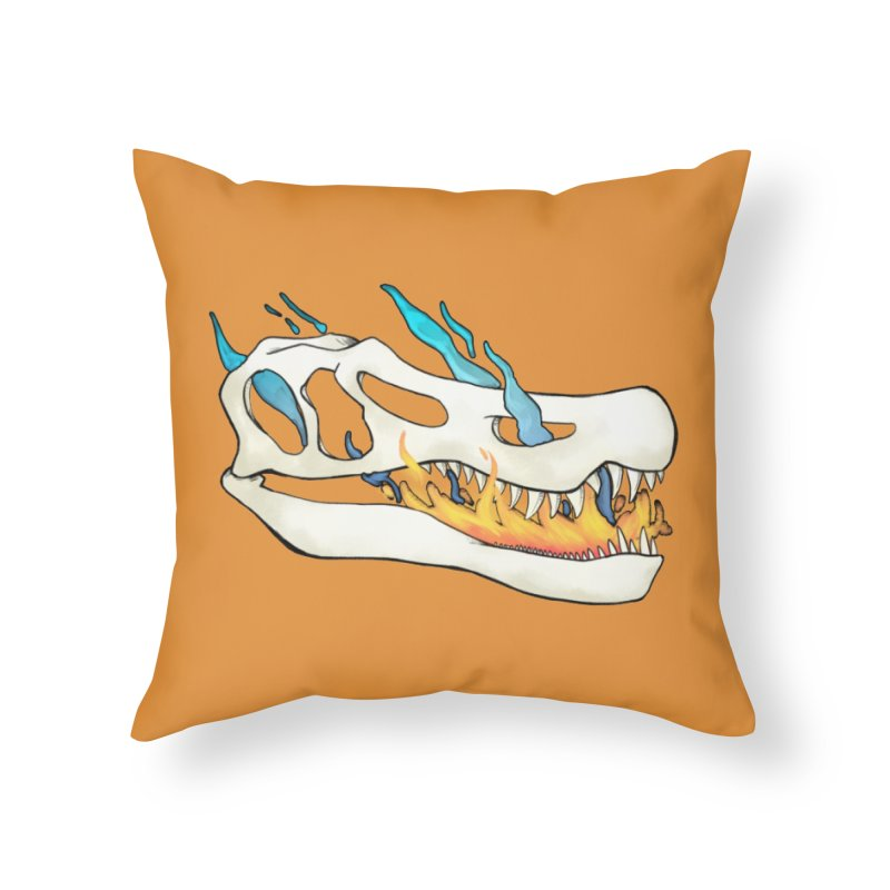 Fire-breathing Baryonyx Home Throw Pillow by Radiochio's Artist Shop