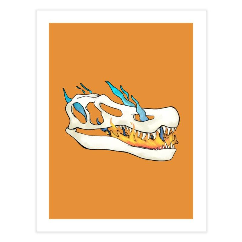 Fire-breathing Baryonyx Home Fine Art Print by Radiochio's Artist Shop