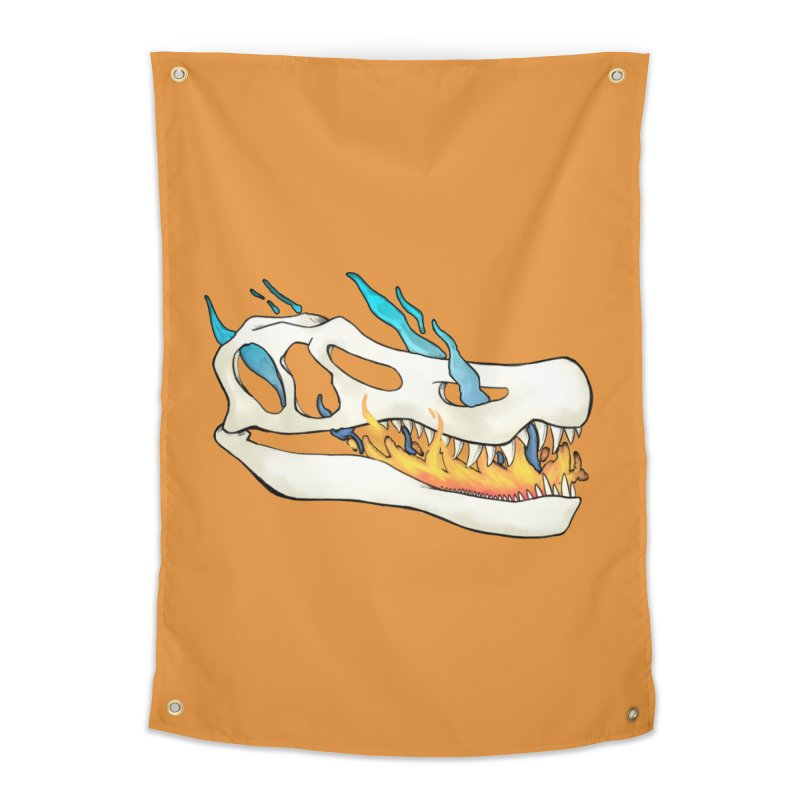 Fire-breathing Baryonyx Home Tapestry by Radiochio's Artist Shop