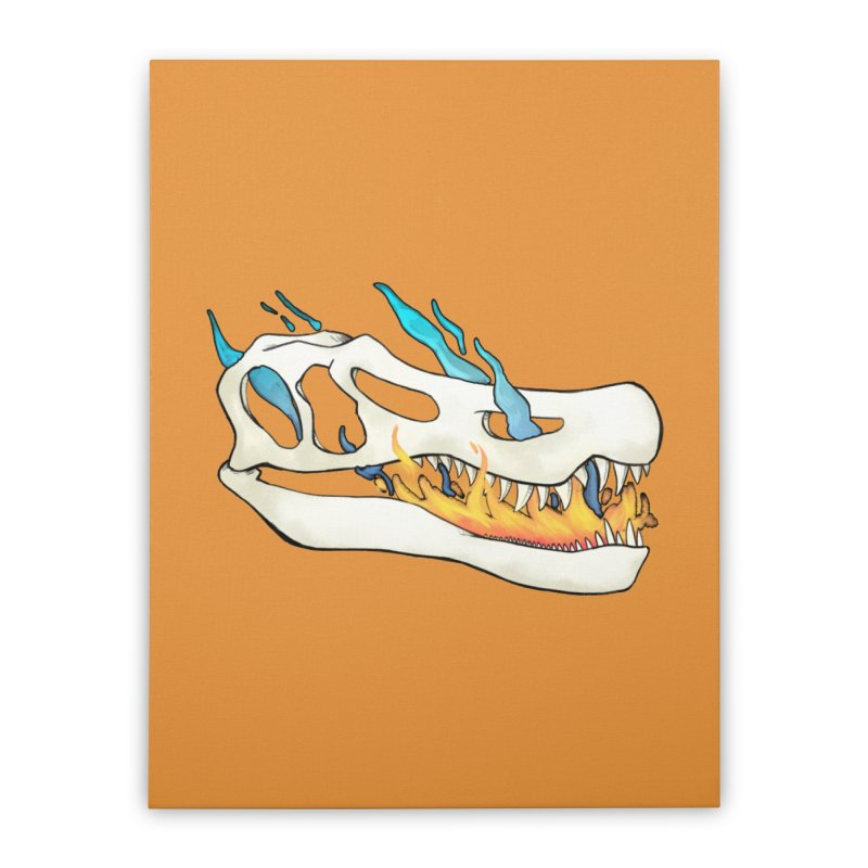 Fire-breathing Baryonyx Home Stretched Canvas by Radiochio's Artist Shop
