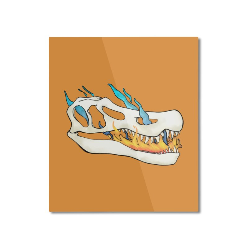 Fire-breathing Baryonyx Home Mounted Aluminum Print by Radiochio's Artist Shop