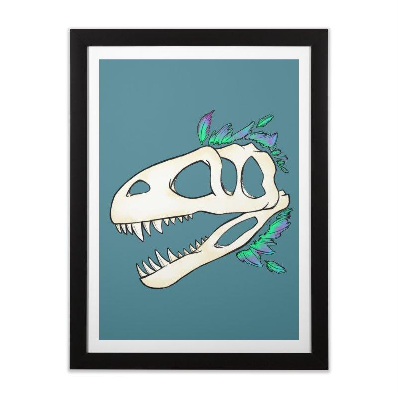 Megalosaurus Home Framed Fine Art Print by Radiochio's Artist Shop