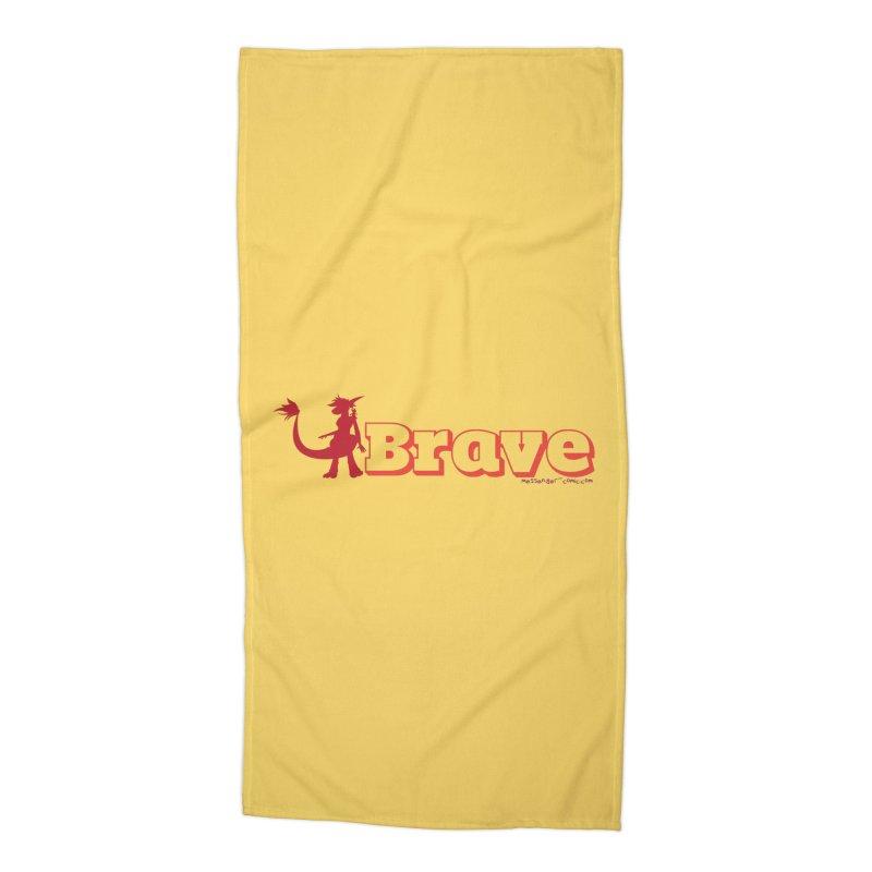 Brave Chio Accessories Beach Towel by Radiochio's Artist Shop