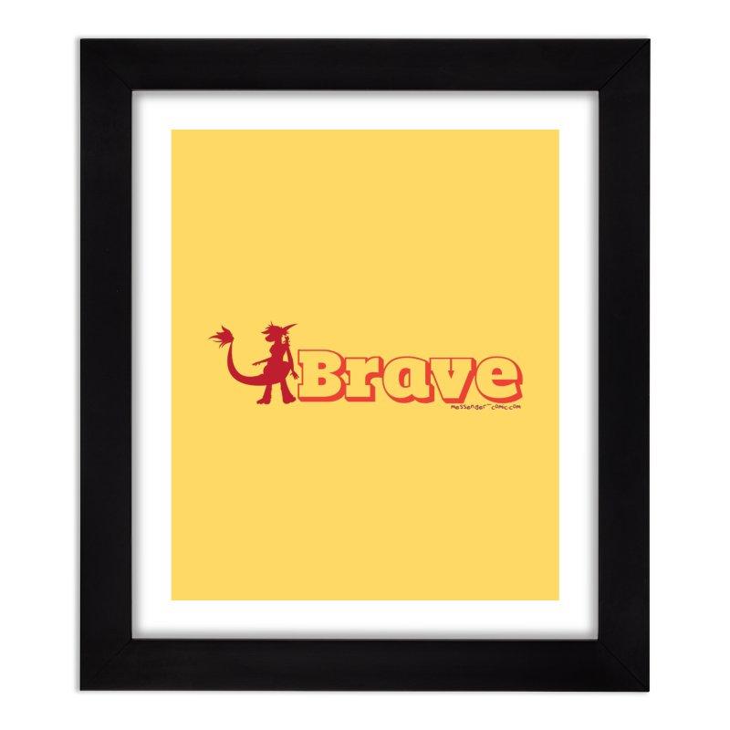 Brave Chio Home Framed Fine Art Print by Radiochio's Artist Shop