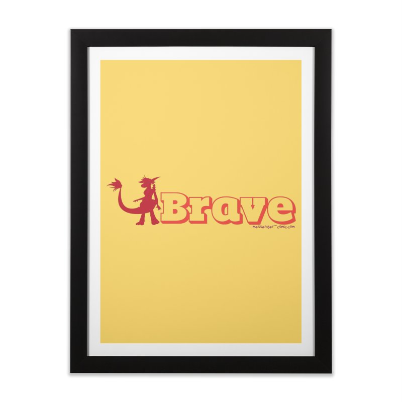 Brave Chio Home Framed Fine Art Print by Radiochio's Artist Shop