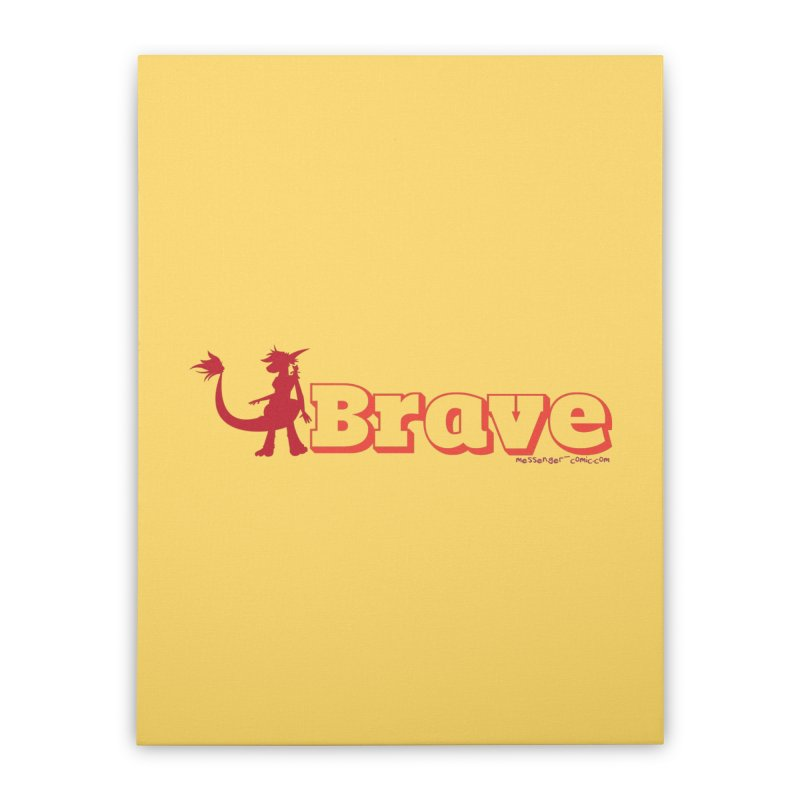 Brave Chio Home Stretched Canvas by Radiochio's Artist Shop