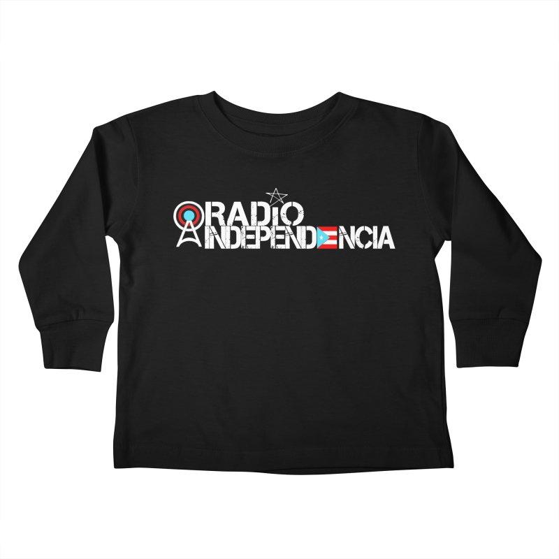Logo (Letras Blancas) in Kids Toddler Longsleeve T-Shirt Black by Tiendita de Radio Independencia