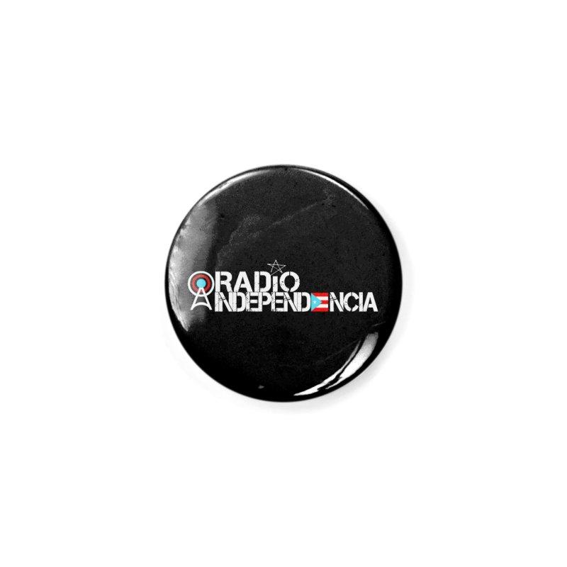 Logo (Letras Blancas) in Button by Tiendita de Radio Independencia