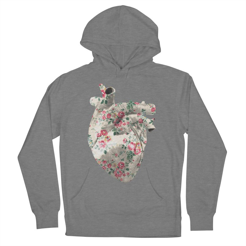 Chioo's Heart in Men's French Terry Pullover Hoody Heather Graphite by Rahimiha's Shop