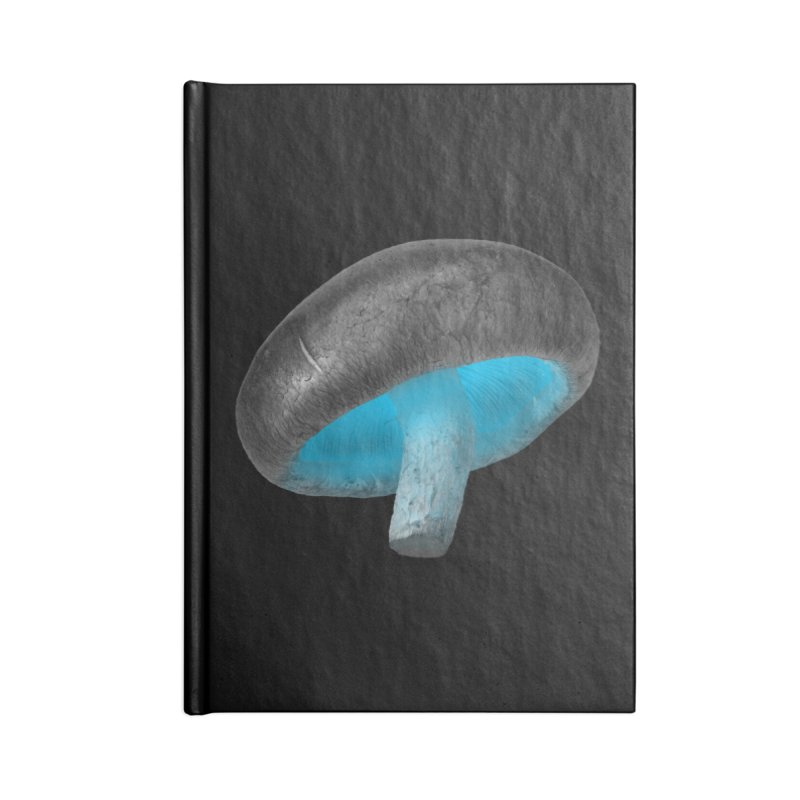Magic Mushroom in Lined Journal Notebook by Rahimiha's Shop