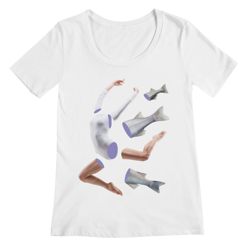 Chopped Ballet Women's Scoopneck by Rahimiha's Shop