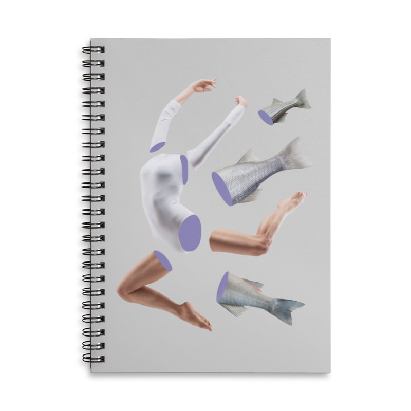 Chopped Ballet Accessories Lined Spiral Notebook by Rahimiha's Shop