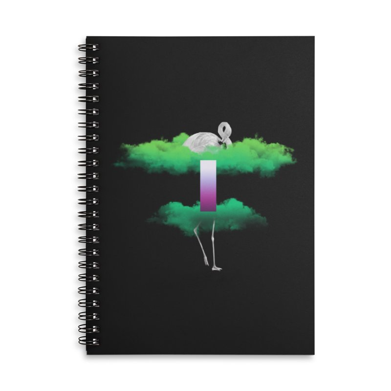 Green Clouds Accessories Lined Spiral Notebook by Rahimiha's Shop
