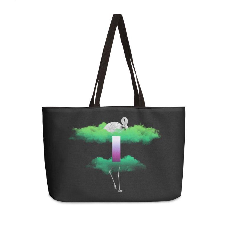 Green Clouds Accessories Weekender Bag Bag by Rahimiha's Shop