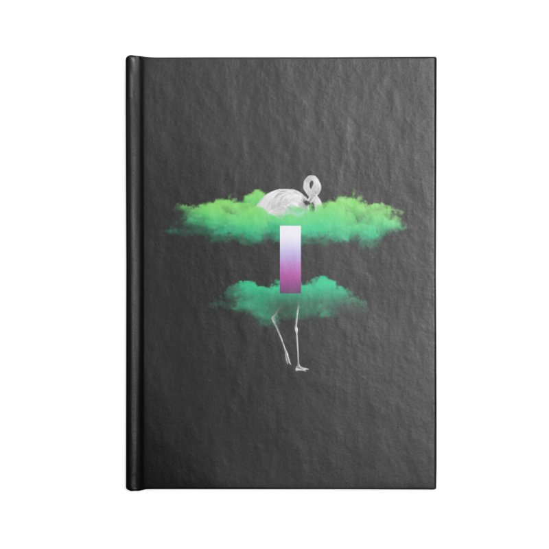 Green Clouds Accessories Blank Journal Notebook by Rahimiha's Shop