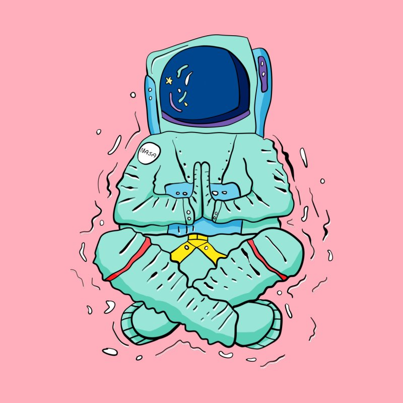 Yogi Astronaut Women's T-Shirt by Rahimiha's Shop