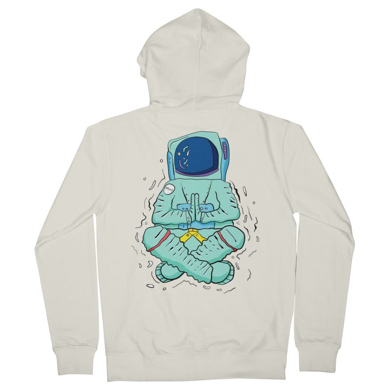 Yogi Astronaut Women's Zip-Up Hoody by Rahimiha's Shop