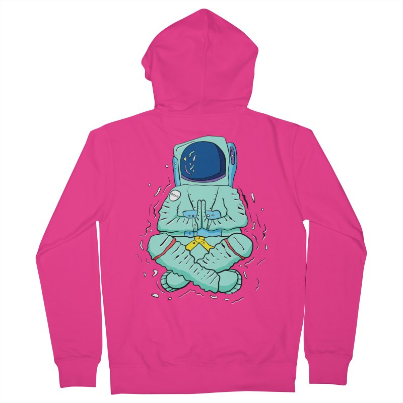 Yogi Astronaut Men's French Terry Zip-Up Hoody by Rahimiha's Shop