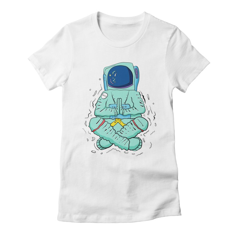 Yogi Astronaut Women's Fitted T-Shirt by Rahimiha's Shop