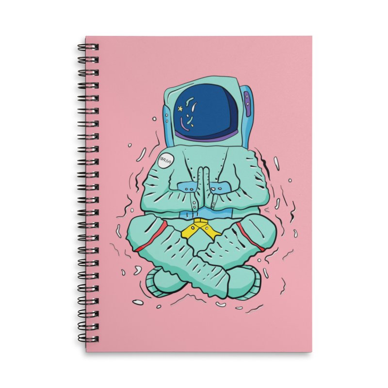 Yogi Astronaut Accessories Lined Spiral Notebook by Rahimiha's Shop