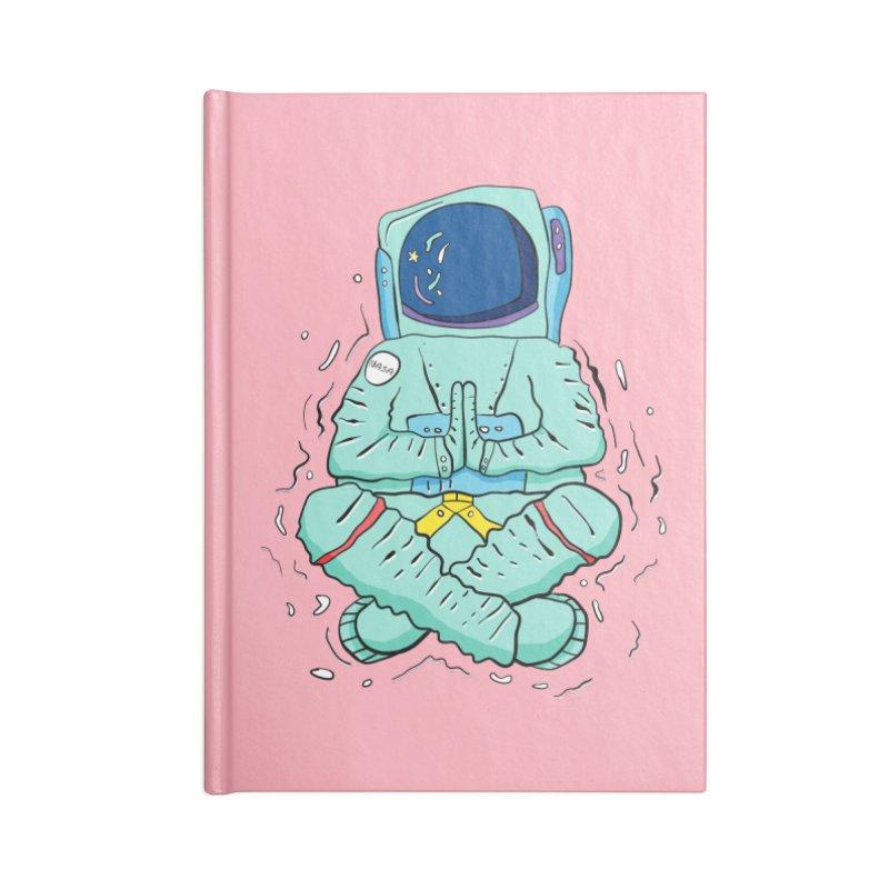 Yogi Astronaut Accessories Lined Journal Notebook by Rahimiha's Shop